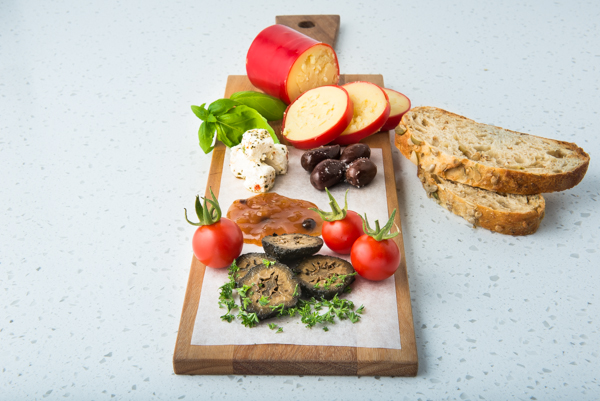 Commercial food photograph of cheeseboard
