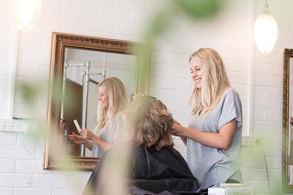Hair artist at work