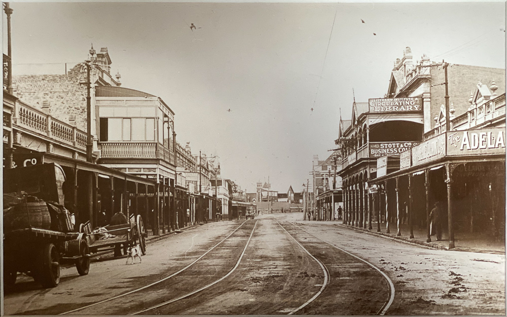 View of South Terrace, Fremantle, taken 1920