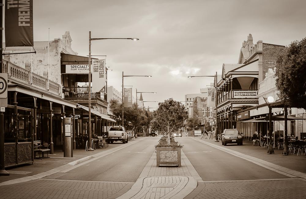 View of South Terrace, Fremantle, taken 2020