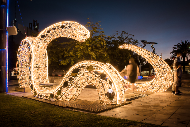 Giant serpent at the Northbridge Piazza
